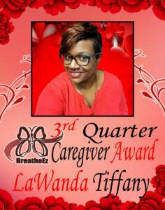 Care Giver Award 3rd Quarter